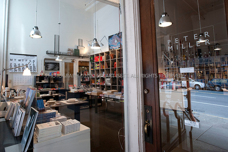 11/12/2009--Seattle, WA, USA..Peter Miller Architecture & Design Bookstore, 1930 1st Ave, downtown. Peter is a Seattle institution and the bookstore is a lovely space that arts-oriented visitors would enjoy...©2009 Stuart Isett. All rights reserved.