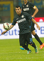 Gary Medel during the Italian serie A   soccer match between SSC Napoli and Inter    at  the San Siro    stadium in Milan  Italy , Octobrr 19 , 2014