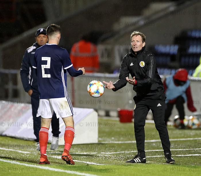 05.09.2019 Scotland u-21 v San Marino, European u-21 Championship 2021 Qualifying Round: Scot Gemmill