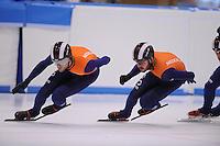 SCHAATSEN: LEEUWARDEN: 08-10-2015, Elfstedenhal, shorttrack time trial, Daan Breeuwsma, Sjinkie Knegt, ©foto Martin de Jong