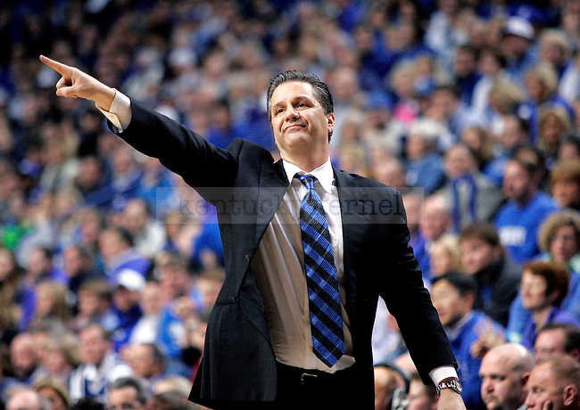 UK head coach John Calipari directs the Wildcats during the second half of their 82-61 win over the University of South Carolina on Thursday, Feb. 25, 2010 at Rupp Arena. Photo by Allie Garza | Staff