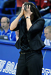 January 26, 2010: UNLV head coach, Kathy Olivier, during Mountain West Conference action between UNLV and Air Force at Clune Arena, U.S. Air Force Academy, Colorado Springs, Colorado.  UNLV defeats Air Force 77-76.