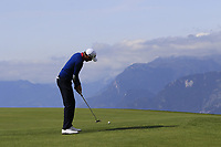 Benjamin Hebert (FRA) putts on the 7th green during Thursday's Round 1 of the 2017 Omega European Masters held at Golf Club Crans-Sur-Sierre, Crans Montana, Switzerland. 7th September 2017.<br /> Picture: Eoin Clarke | Golffile<br /> <br /> <br /> All photos usage must carry mandatory copyright credit (&copy; Golffile | Eoin Clarke)