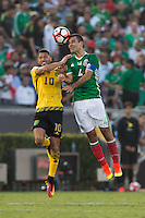 Action photo during the match Mexico vs Jamaica Corresponding to  Group -C- of the America Cup Centenary 2016 at Rose Bowl Stadium.<br /> <br /> Foto de accion durante el partido Mexico vs Jamaica, Correspondiente al Grupo -C- de la Copa America Centenario 2016 en el Estadio Rose Bowl, en la foto: (i-d) Joel McAnuff de Jamaica y Rafael Marquez de Mexico<br /> <br /> <br /> 09/06/2016/MEXSPORT/Jorge Martinez.