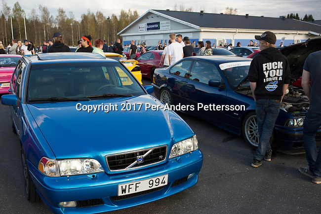 GISLAVED, SWEDEN - MAY 6: Hundreds of visitors came to see the display of new and old cars during a yearly meet on May 6, 2017 in Gislaved, Sweden. Many came from neighboring towns and cities, and these car meets are popular all over Sweden, and part of a car culture in the country.  (Photo by Per-Anders Pettersson/Getty Images)
