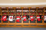 Wisconsin Badgers men's hockey locker room on move-in day at the LaBahn Arena Monday, October 1, 2012 in Madison, Wisc. (Photo by David Stluka)