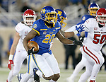 BROOKINGS, SD - NOVEMBER 17: Pierre Strong, Jr. #20 from South Dakota State University breaks loose for a touchdown against the University of South Dakota during their game Saturday afternoon at Dana J. Dykhouse Stadium in Brookings, SD. (Photo by Dave Eggen/Inertia)