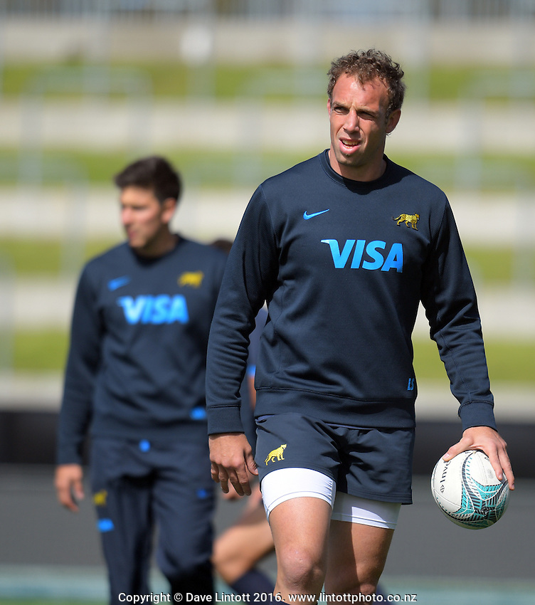Salvatore Leonore during the Argentina Pumas rugby captain's run at Waikato Stadium in Hamilton, New Zealand on Friday, 9 September 2016. Photo: Dave Lintott / lintottphoto.co.nz