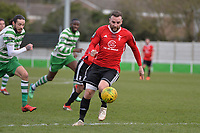 Adam Cornell of Bracknell Town during Waltham Abbey vs Bracknell Town, Bostik League South Central Division Football at Capershotts on 9th February 2019