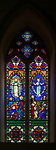 Victorian 19th century stained glass window, Shimpling church, Suffolk, England, UK c 1868 by Baillie and Mayer