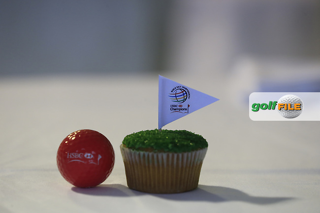 Putting green cup cake during Thursday's Round 1 of the 2013 WGC-HSBC Champions held at the Sheshan International Golf Club, Shanghai, China. 31st October 2013.<br /> Picture: Eoin Clarke/www.golffile.ie