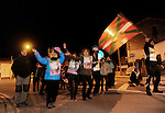 "People wait the ""19th Korrika"" in andosilla early on March 26, 2015, Basque Country. The ""19th Korrika"" is a relay of hand to hand baton passing without interruption over 11 days and 10 nights crossing many Basque villages and cities, totalling some 2300 kilometres in a bid to promote the basque language.The ""Korrika"" this year end in Bilbao on March 29. (Ander Gillenea / Bostok Photo)"