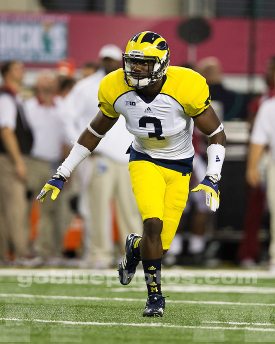 The University of Michigan football team lost to Alabama, 41-14, in the 2012 Cowboys Classic at Cowboys Stadium in Arlington, Texas, on September 1, 2012.