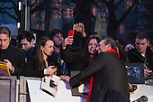 London, UK. 22 March 2016. Composer Hans Zimmer with fans. Warner Bros. Pictures presents the European Premiere of Batman v Superman, Dawn of Justice. The movie, directed by Zack Snyder, stars Ben Affleck as Batman/Bruce Wayne and Henry Cavill as Superman/Clark Kent in the characters' first big-screen pairing. The movie opens in cinemas on 25 March 2016. © Vibrant Pictures/Alamy Live News