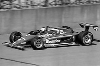 BROOKLYN, MI - SEPTEMBER 22: Mario Andretti drives the Newman Haas Racing Lola T900/Cosworth during the Detroit News 200 CART Indy Car race at the Michigan International Speedway near Brooklyn, Michigan, on September 22, 1985.