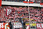 10.04.2019, Schauinsland-Reisen-Arena, Duisburg, GER, 2. FBL, MSV Duisburg vs. 1. FC Koeln,<br />  <br /> DFL regulations prohibit any use of photographs as image sequences and/or quasi-video<br /> <br /> im Bild / picture shows: <br /> Fans Koeln<br /> <br /> Foto &copy; nordphoto / Meuter