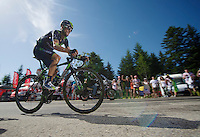 Alejandro Valverde (ESP/Movistar) rode himself into a 2nd overall by riding strong up the final climb to Chamrousse (1730m/18.2km/7.3%)<br /> <br /> 2014 Tour de France<br /> stage 13: Saint-Eti&egrave;nne - Chamrousse (197km)