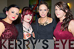 FASHION: Ladies of Ardfert who attended the St Brendan's Hurling Club, Medal presentaion social in Ballyroe Heights Hotel, Tralee on Saturday night.l-r: Laura Lenihan, Meabh Enright, Nicole O'Connor and Sarah Casey.