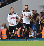 Mousa Dembele scores for Spurs during the English Premier League match at the White Hart Lane Stadium, London. Picture date: April 15th, 2017.Pic credit should read: Chris Dean/Sportimage
