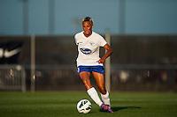Boston Breakers forward Lianne Sanderson (10). Sky Blue FC defeated the Boston Breakers 5-1 during a National Women's Soccer League (NWSL) match at Yurcak Field in Piscataway, NJ, on June 1, 2013.