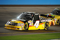 Nov. 13, 2009; Avondale, AZ, USA; NASCAR Camping World Truck Series driver Kevin Harvick during the Lucas Oil 150 at Phoenix International Raceway. Mandatory Credit: Mark J. Rebilas-