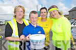 FRIENDS: Great friends from who walked from Castlegregory to Blennerville and than to Tralee to raise funds for Cancer, L-r: Trish and Garry Horan, Maria McCarthy and Mairead Moore.......................