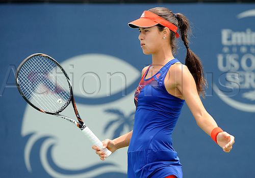 31.07.2013.la Costa Country Club, Carlsbad, California, USA.  Ana Ivanovic (SRB) reacts after missing a shot during a match against Dominika Cibulkova (SVK) during the Southern California Open played at the La Costa Resort & Spa in Carlsbad CA.