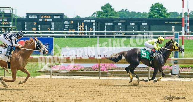Gold Value winning at Delaware Park on 7/20/17