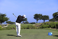Sang-Moon Bae (KOR) tees off the 7th tee of Monterey Peninsula CC during Saturday's Round 3 of the 2018 AT&amp;T Pebble Beach Pro-Am, held over 3 courses Pebble Beach, Spyglass Hill and Monterey, California, USA. 10th February 2018.<br /> Picture: Eoin Clarke | Golffile<br /> <br /> <br /> All photos usage must carry mandatory copyright credit (&copy; Golffile | Eoin Clarke)