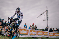 European CX Champion Mathieu van der Poel (NED/Corendon-Circus) during the course recon<br /> <br /> GP Mario De Clercq / Hotond cross 2018 (Ronse, BEL)