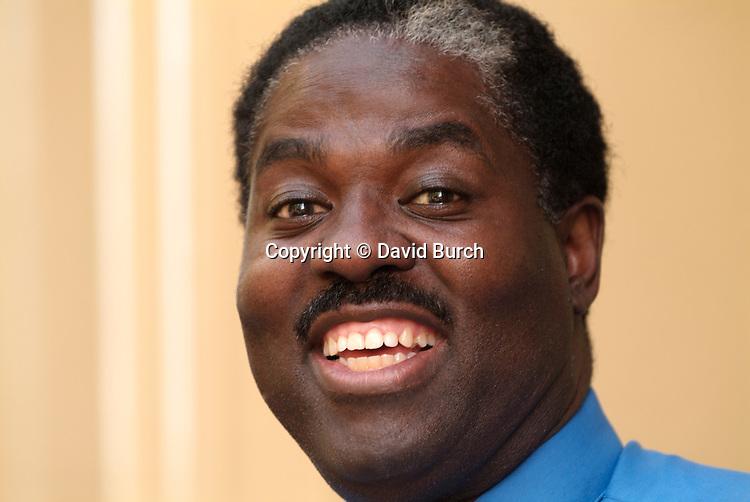 African American man, big smile