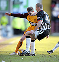 07/02/2009  Copyright Pic: James Stewart.File Name : sct_jspa11_motherwell_v_stmirren.DAVID CLARKSON AND SCOT CUTHBERT CHALLENGE.James Stewart Photo Agency 19 Carronlea Drive, Falkirk. FK2 8DN      Vat Reg No. 607 6932 25.Studio      : +44 (0)1324 611191 .Mobile      : +44 (0)7721 416997.E-mail  :  jim@jspa.co.uk.If you require further information then contact Jim Stewart on any of the numbers above.........