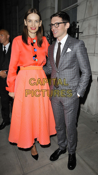 LONDON, ENGLAND - SEPTEMBER 15: Roksanda Ilincic &amp; Erdem Moralioglu attend the Business of Fashion latest BOF 500 list launch dinner &amp; party, Berners Tavern, The London Edition Hotel, Berners St., on Monday September 15, 2014 in London, England, UK. <br /> CAP/CAN<br /> &copy;Can Nguyen/Capital Pictures
