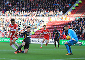 5th November 2017, Riverside Stadium, Middlesbrough, England; EFL Championship football, Middlesbrough versus Sunderland; Marcus Tavernier of Middlesbrough puts Middlesbrough 1-0 up in the 6th minute beating Robbin Ruiter of Sunderland at his near post