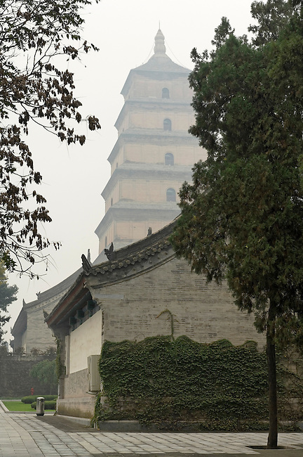 Big Wild Goose Pagoda, Xi'an, China, Asia