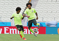 Brazil Players Marcelo(Real Madrid) right and Willian (Chelsea)