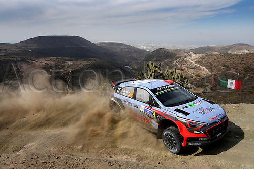 03.03.2016. Leon, Mexico. WRC rally of Mexico. Shakedown and SS1 and SS2.  Dani Sordo (ESP) and Marc Marti (ESP)- Hyundai I20 WRC