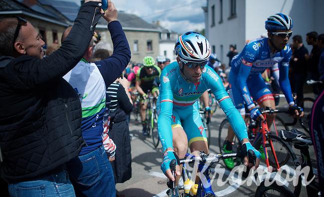 Vincenzo Nibali (ITA/Astana) up the Côte de Saint-Roche (1850m/6.3%)<br /> <br /> 101th Liège-Bastogne-Liège 2015