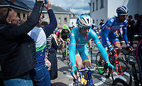 Vincenzo Nibali (ITA/Astana) up the Côte de Saint-Roche (1850m/6.3%)<br /> <br /> 101th Liège-Bastogne-Liège 2015