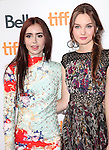 Lily Collins & Liana Liberato attending the The 2012 Toronto International Film Festival.Red Carpet Arrivals for 'Writers' at the Ryerson Theatre in Toronto on 9/9/2012