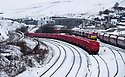 08/03/18<br /> <br /> Freight trains in a wintry siding near Doveholes after snow returns to the Derbyshire Peak District.<br /> <br /> All Rights Reserved F Stop Press Ltd. +44 (0)1335 344240 +44 (0)7765 242650  www.fstoppress.com