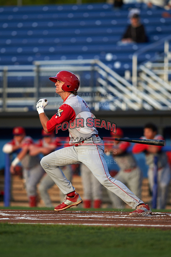 Williamsport Crosscutters designated hitter Mark Laird (7) at bat during a game against the Batavia Muckdogs on August 27, 2015 at Dwyer Stadium in Batavia, New York.  Batavia defeated Williamsport 3-2.  (Mike Janes/Four Seam Images)