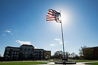 Drill Field flag flying<br />  (photo by Megan Bean / &copy; Mississippi State University)