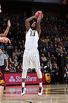 Darius Leonard (13) of the Wake Forest Demon Deacons attempts a shot during first half action against the Minnesota Golden Gophers at the LJVM Coliseum on December 2, 2014 in Winston-Salem, North Carolina.  The Golden Gophers defeated the Demon Deacons 84-69. (Brian Westerholt/Sports On Film)