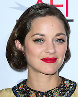 HOLLYWOOD, LOS ANGELES, CA, USA - NOVEMBER 07: Marion Cotillard arrives at the AFI FEST 2014 - 'Two Days, One Night' Special Screening held at the Egyptian Theatre on November 7, 2014 in Hollywood, Los Angeles, California, United States. (Photo by Xavier Collin/Celebrity Monitor)