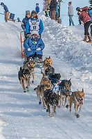 Matthew Failor on Cordova St. hill during the Anchorage start day of Iditarod 2018 on Cordova St. hill during the Anchorage start day of Iditarod 2019