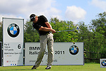 Michael Jonzon (SWE) tees off on the 6th tee during Day 3 of the BMW Italian Open at Royal Park I Roveri, Turin, Italy, 11th June 2011 (Photo Eoin Clarke/Golffile 2011)