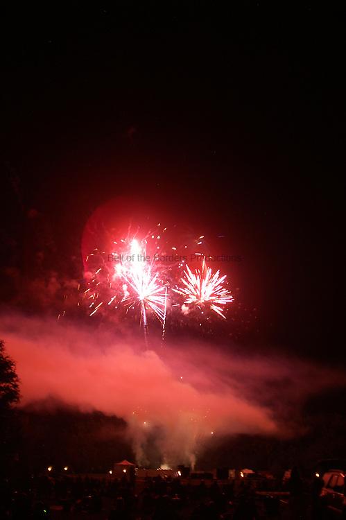 Fire works light up the sky on July 4 2009