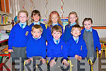 Asdee National School: Junior infants attending Asdee national school on their first. Front : Oisin, Eamonn & John. Back : Aoibhinn, Saoirse, Laanne, Eabha & Samantha.