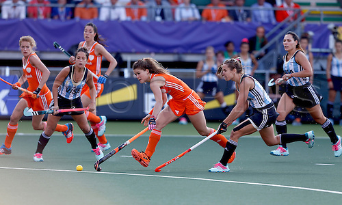 12.06.2014. The hague, Netherlands.  Roos Drost - Netherlands versus Argentina, semi-final Womens  Rabobank Hockey World Cup 2014. The game ended 4-0 with Netherlands making the final First Half action